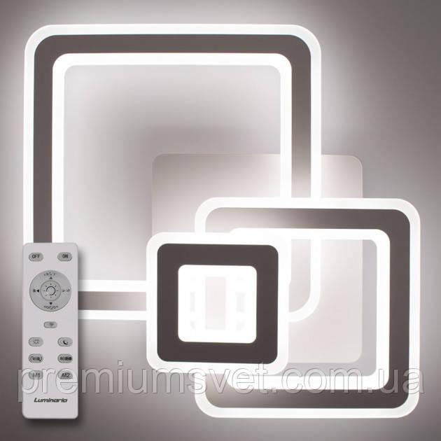 Стельовий світильник світлодіодний з пультом ДУ TRIPLEX SQUARE 124W S-700/600-WHITE/WHITE-220-IP44