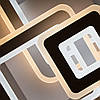 Стельовий світильник світлодіодний з пультом ДУ TRIPLEX SQUARE 124W S-700/600-WHITE/WHITE-220-IP44, фото 4