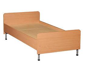 Ліжко односпальне, спинки із заокругленими кутами