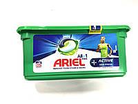 Капсулы для стирки Ariel +Aktiv ( для спортивной одежды) 25 шт