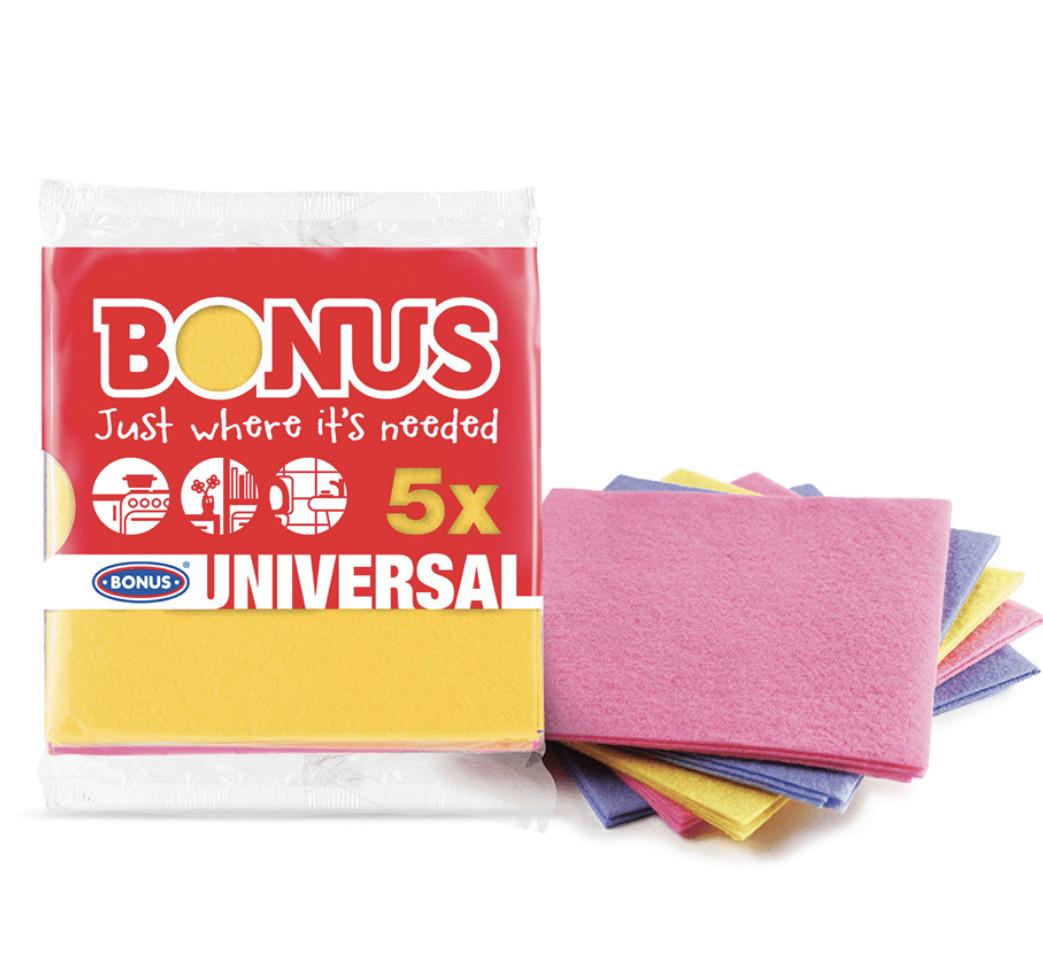 Салфетка вискозная универсальная Bonus  Universal Cloth 5шт