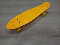 Penny Board. Желтый цвет. Светящиеся колеса