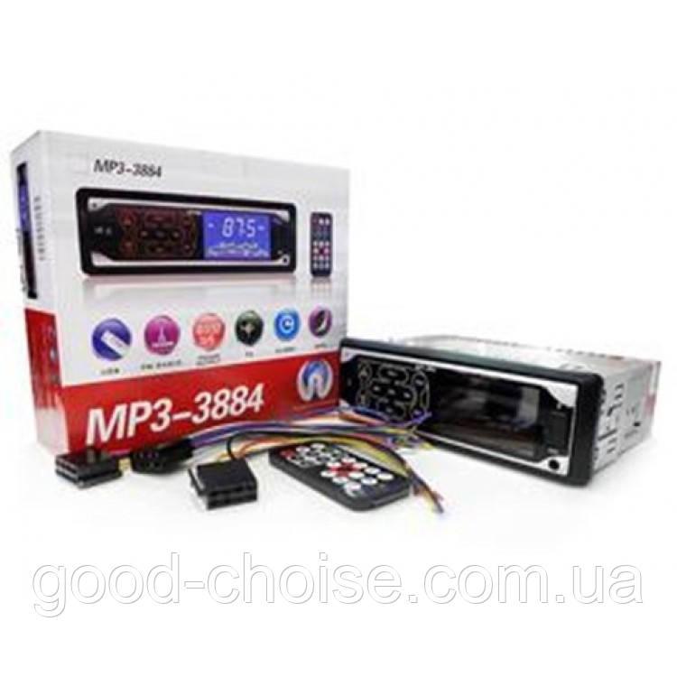 Автомагнитола MP3 3884 ISO 1DIN сенсорный дисплей / Автомобильная магнитола