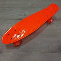 Penny Board. Апельсиновый цвет. Светящиеся колеса
