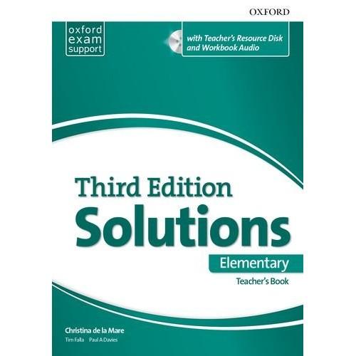 Книга для учителя Solutions Third Edition Elementary Teacher's Pack