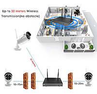 Система наблюдения Hiseeu 4 Wi-Fi камеры 1080P 8WNKIT 4HB612, фото 4