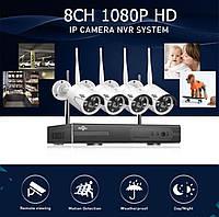 Система наблюдения Hiseeu 4 Wi-Fi камеры 1080P 8WNKIT 4HB612, фото 8
