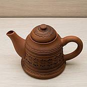 Чайник заварювальний малий 0,8 л різання Орнамент, в/п глазур