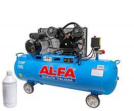 Компрессор AL-FA ALC150-2 150л с ресивером 2 поршня
