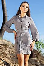 Платье серый  940.4109 (S-XL)