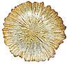Сервірувальна тарілка, колір - золотий, 33см 587-011