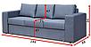 Прямой диван Чикаго В3 Вика (не раскладной), фото 4