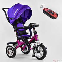 Детский трехколесный велосипед BEST TRIKE 5890 7019 (пуль, фара, музыкальная панель, поворотное сидение)