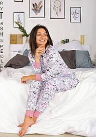 """Эротическая пижама с вырезом (карманом) на попе, попожама """"Счастливые котики"""", подарок девушке"""