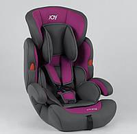 Автокресло детское JOY ( серо-фиолетовый, универсальное от 9 до 36 кг, с бустером )