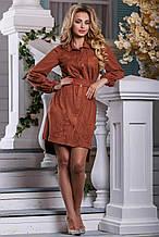 Платье коричневый ( S-XL) 940.2591