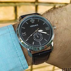 Мужские наручные часы черные в стиле Versace. Годинник чоловічий