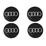 Наклейки на автомобильные колпаки и диски / комплект / диаметр 90 мм / AUDI, фото 3