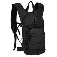 Тактический рюкзак для поездок на велосипеде черный