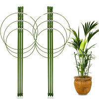 ОПОРА для растений круглая H 60 см металл в пластике 3 кольца // PALISAD 644015