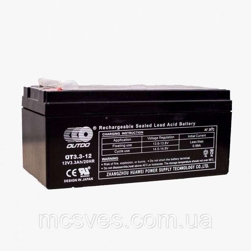 Аккумулятор OUTDO OT3,3-12, 12V3,3Ah