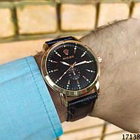 Мужские наручные часы золотые в стиле Rolex. Годинник чоловічий