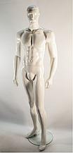 Манекен мужской белый глянцевый