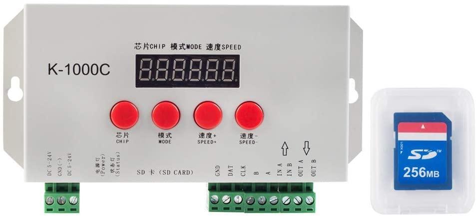 Контролер RGBW K-1000C з підтримкою DMX 512 | WS2811, WS2801, WS2812B | +256GB SD карта