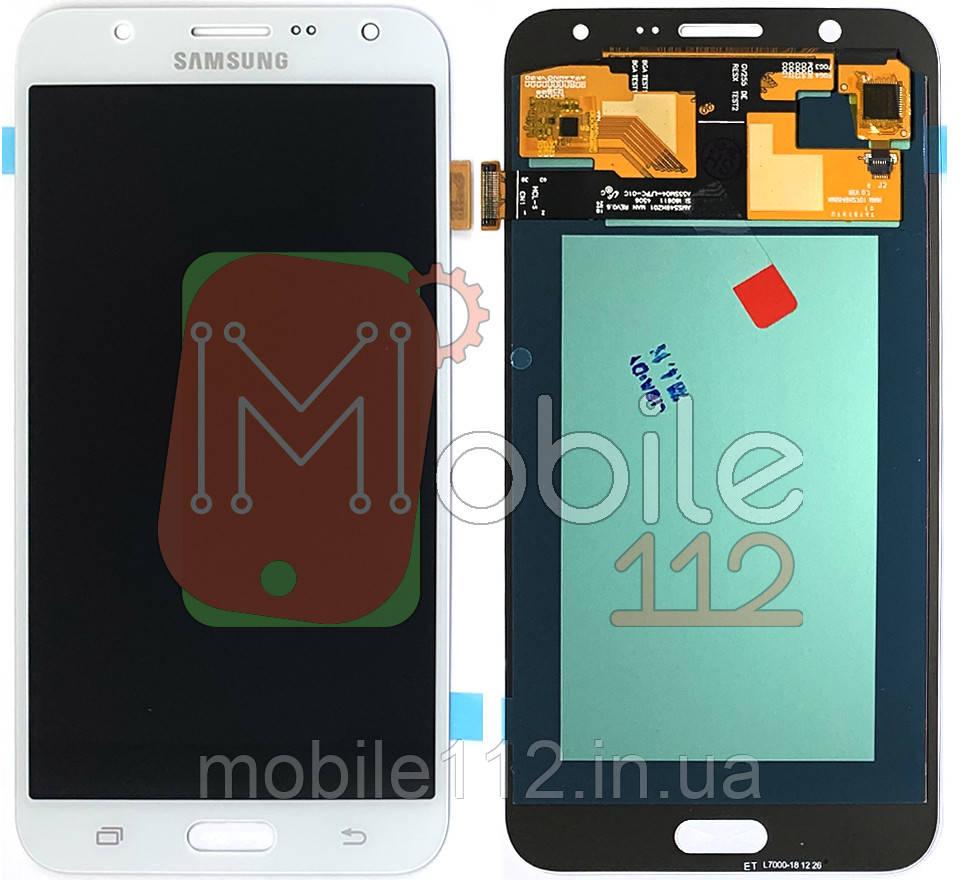 Экран (дисплей) Samsung Galaxy J7 2015 J700H J700F + тачскрин белый OLED Big Glass