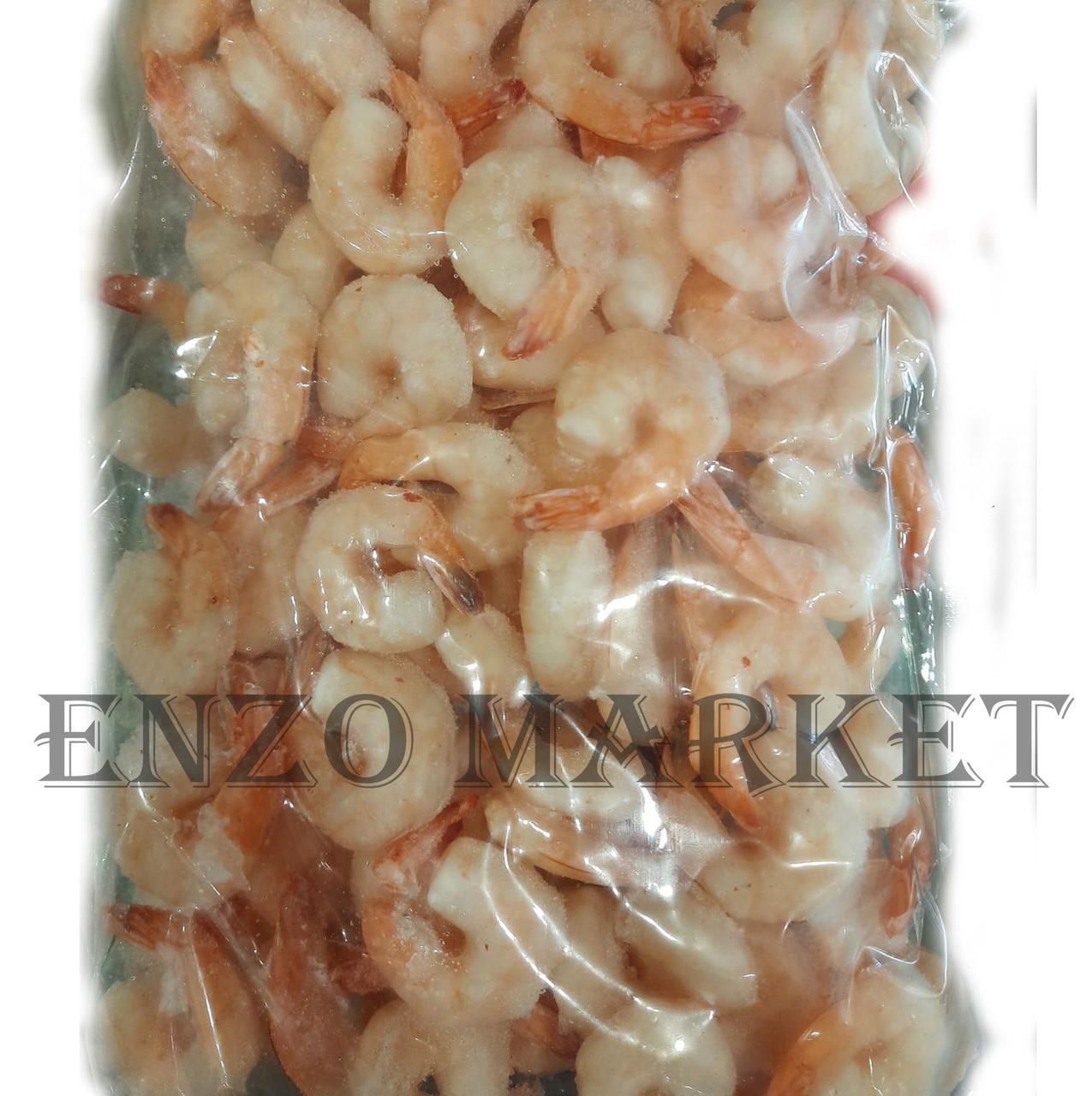 Креветки тигровые очищенные вареные, 1 кг