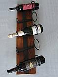 Подставка  для вина настенная, фото 10