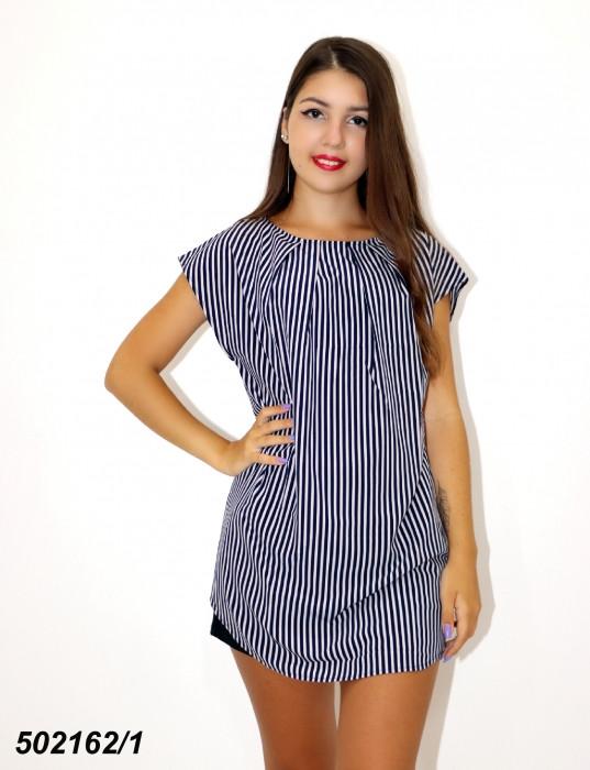 Синяя женская Блуза-туника,в полоску / горошек 42 44 46 48
