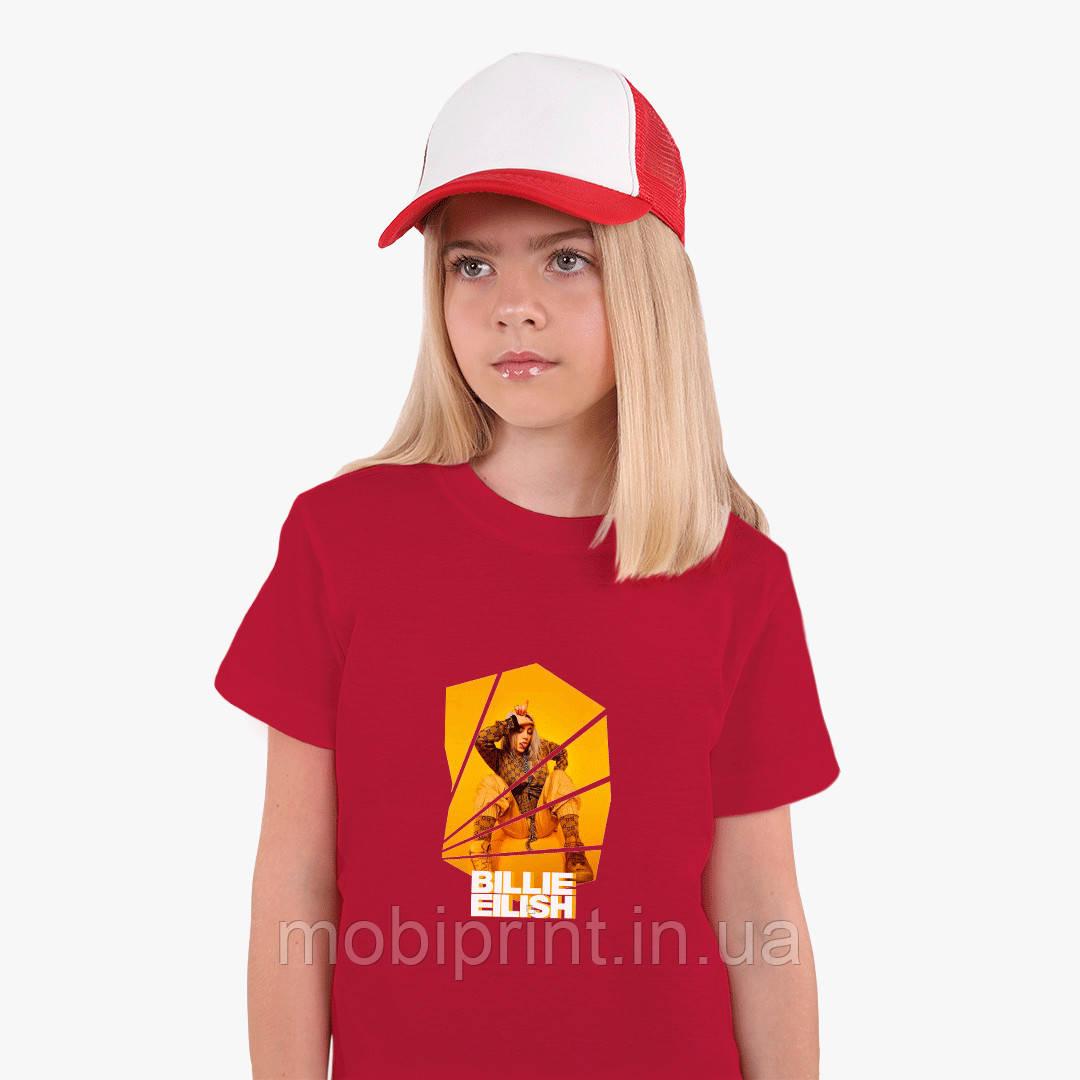 Детская футболка для девочек Билли Айлиш (Billie Eilish) (25186-1216) Красный