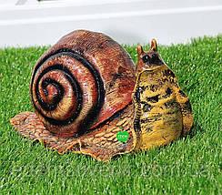 Садовая фигура Улитка большая, Улитка средняя и Улитка малая, фото 3