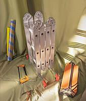 Шарнирная универсальная лестница трансформер четырехсекционная