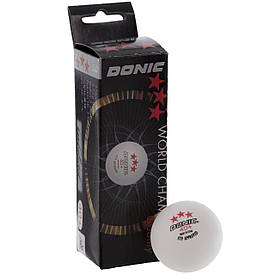 Набір м'ячів для настільного тенісу 3 штуки DONIC 550251-003