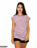 Женская Блуза-туника,в полоску / горошек 42 44 46 48, фото 1