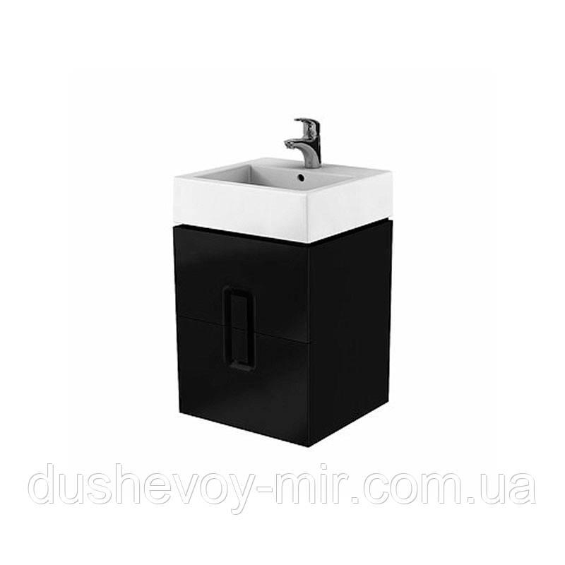 KOLO TWINS шкафчик под умывальник 50 см с двумя ящиками, черный матовый 89491-000