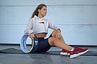 Йога колесо для фитнеса и аэробики Power SystemYoga Wheel Pro PS-4085 Black/White Черно-белый, фото 3