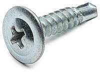 Саморез 4.2х13 по металлу со сверлом и прессшайбой оцинкованный