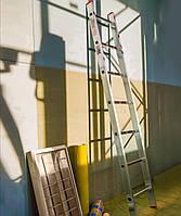Односекционная приставная лестница на 8 ступеней алюминиевая