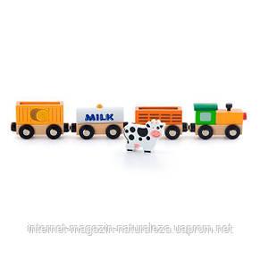 Набор к железной дороге Viga Toys Поезд-ферма (50821), фото 2