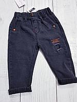Черные джинсы на резинке для мальчика 104(4года)(р) весна-осень 00171