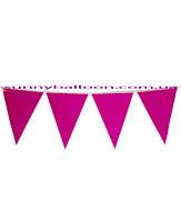 Бумажный декор флажки-банер малиновые 250 см. Уп.10 шт.