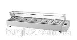 Мармит электрический GoodFood BM5G Мармит- витрина на 5 гастроемкостей