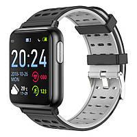 Умные часы Lemfo V5 Metal с измерением давления и пульсоксиметром (Черно-серый)