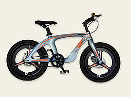 Велосипед, 2-х колесный, ГОЛУБОЙ, подножка, ручные тормоза, M20303