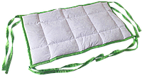 Бортик / захист в дитяче ліжечко / бортик защита в кроватку 59 * 33 см зелений кант, фото 1