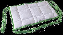 Бортик / захист в дитяче ліжечко / бортик защита в кроватку 59 * 33 см зелений кант