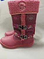 Розовые зимние сапожки для девочки, 35 размер, фото 1